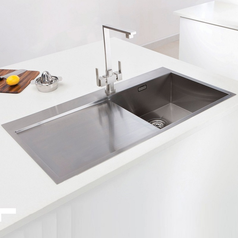kitchen sink inset caple cubit 100 stainless steel single bowl inset kitchen sink 2752